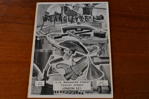 W.Langley & Co Ltd, Reprint of the 1950's Coopers Tool Catalogue £6.00 + £1.00 post to UK, £4.00 Worldwide