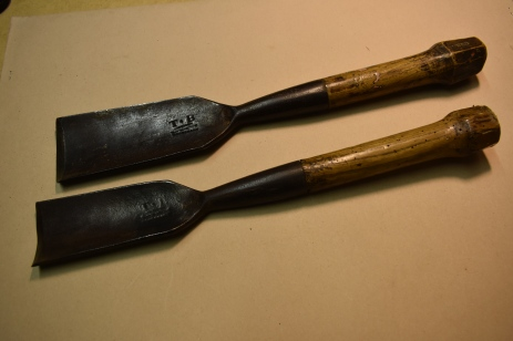 2 x Thomas Beale Wheelwright's Gouges, Inventory No.0042AG
