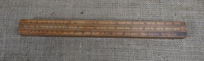 """12"""" four slide gauger's rule"""
