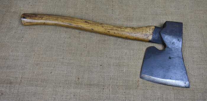Ex-military coachmaker's side axe, broad arrow mark on blade.