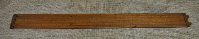 "Dring & Fage, 145, Strand, London,24"" Gauger's slide rule."
