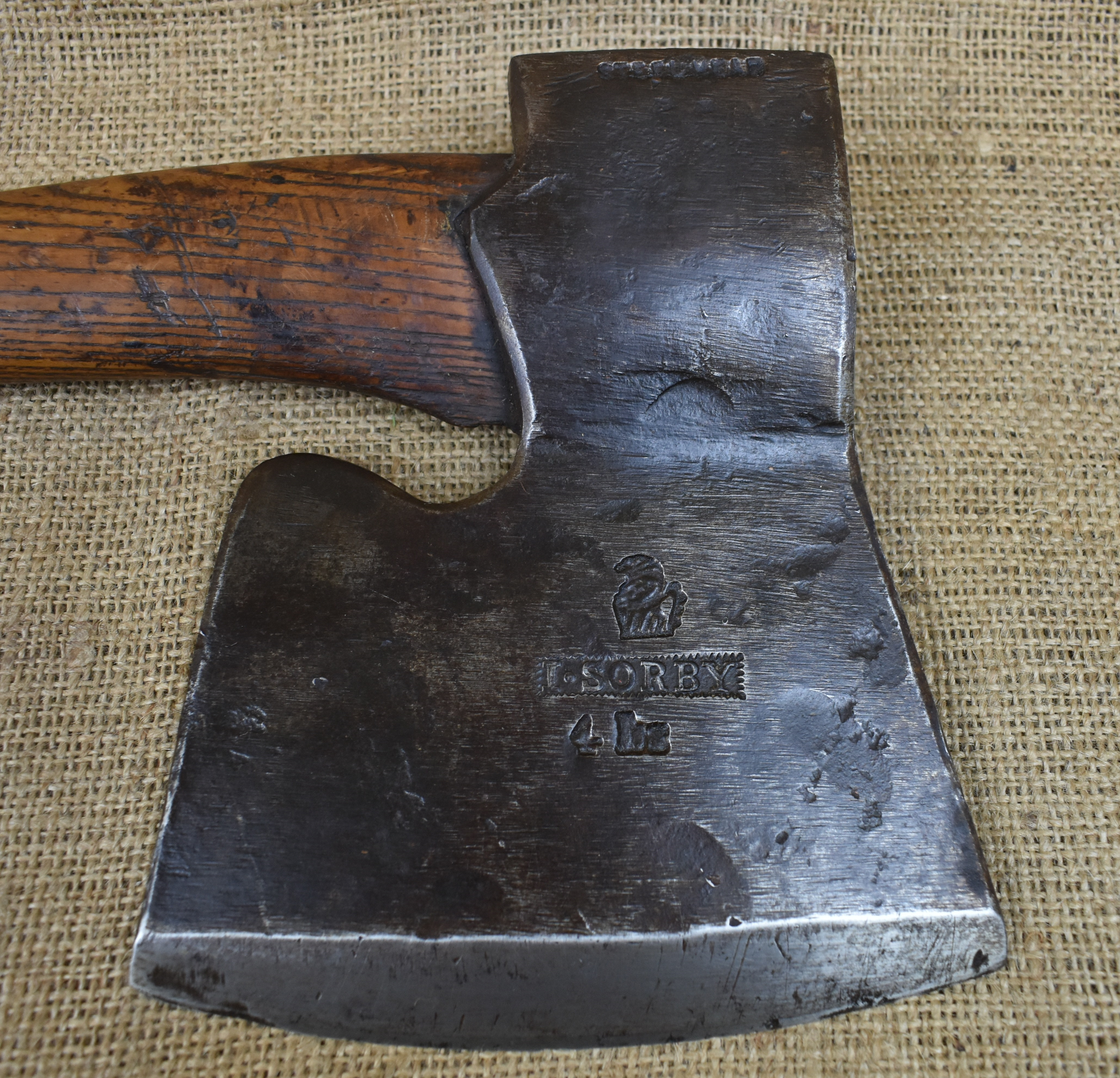 4lb Coachmaker's side axe by I.Sorby