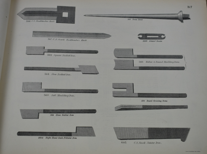 Plane iron page from the Sheffield Illustrated List, 1888