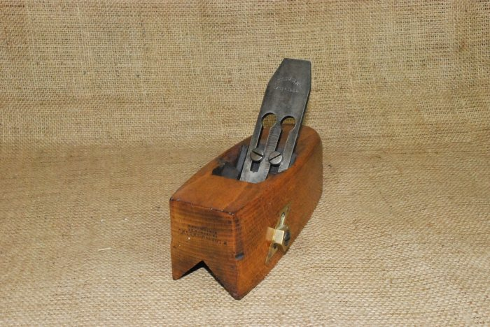 Sliding box chamfer plane marked W.Lofting & Son, 72 Church St. Marylebone, Iron marked Atkin & Sons.