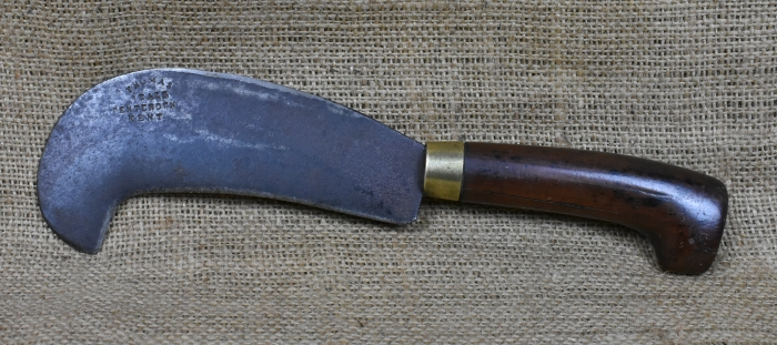 "6"" Billhook marked Thomas Beall, Tenterden, Kent."