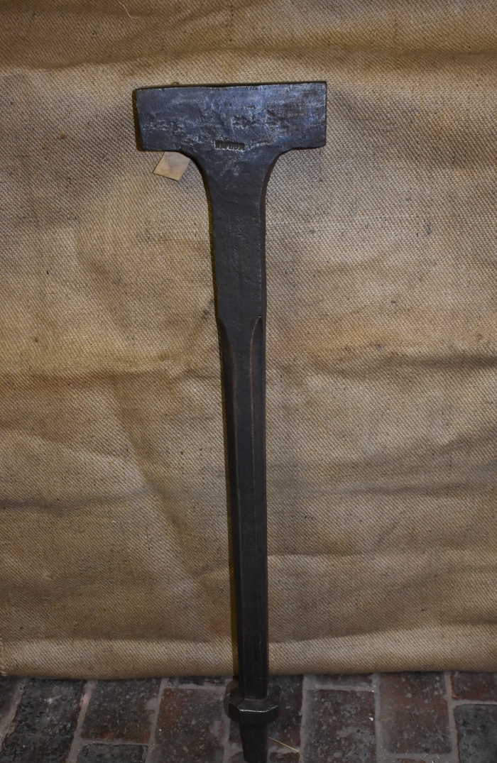 Cooper's bick iron by W.Gilpin, forged construction.