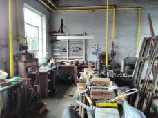 A general view of the mark making workshop.